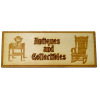 Miniature Antiques and Collectibles Wood Sign