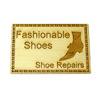 Handcrafted Wood Shoe Store & Repairs Sign