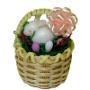 Large Easter Basket with Bunny Rabbit and Easter Eggs