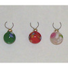 Set of Painted Christmas Ball Ornaments