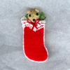 Red Teddy Bear Christmas Stocking