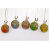 Set of Colorful Tinseltone Christmas Ornaments