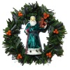 Handcrafted Victorian Santa Claus with Bear Christmas Wreath