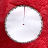 Silver Trimmed Christmas Tree Skirt