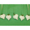 White Heart Christmas Ornaments