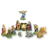 Dollhouse Mini Handpainted 12 Piece Christmas Nativity Set