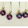 Handcrafted Fuchsia Speckled Christmas Ornaments