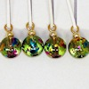 Handcrafted Colorful Speckled Christmas Ornaments
