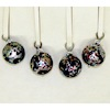 Speckled Metallic Silver Glass Christmas Ornaments