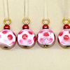 Large Red and White Christmas Ball Ornaments
