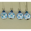 Blue and White Glass Christmas Ornaments