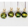 Handcrafted Green and Gold Christmas Ornaments