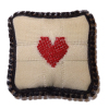Handcrafted Emboidered Valentine Heart Pillow