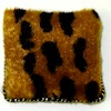 Handcrafted Exotic Leopard Print Faux Fur Pillow