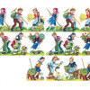 Antique Victorian German Die Cuts Scrap Farm Children BL