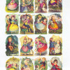 Antique Chromolithograph English Die Cut Scrap Colonial Children