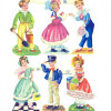 Antique Chromolithograph English Die Cuts Scrap Boys & Girls