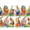 Antique Embossed English Die Cut Easter Bunny Scrap