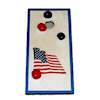 Handcrafted Waving Flag Cornhole Bean Bag Toss Game