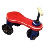 Handcrafted Red Wood Tricycle with Working Wheels and Steering