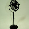 Black Metal Standing Tilting Floor Fan