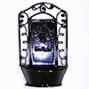 Dollhouse Black Metal Wall Planter or Water Feature