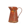 Rust Colored Metal Pitcher