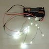 12 Working Cool White LED Christmas Lights Battery Operated