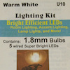 Micro Mini LED Room Lighting - Warm White, 12v