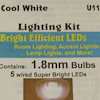 Micro Mini LED Room Lighting - Cool White, 12v