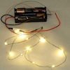 12 Working Warm White LED Christmas Lights-Clear Battery Op