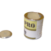 Can of Beige Paint with Removable Lid