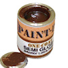 Can of Brown Paint with Removable Lid