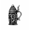 Ornate Floral Embossed Metal Beer Stein