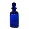 Handblown Ferenc Albert Cobalt Blue Cut Glass Whiskey Decanter