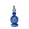 Handblown Ferenc Albert Cobalt Blue Footed Ribbed Glass Perfume