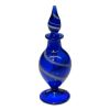 Handblown Ferenc Albert Blue Swirl Glass Perfume Bottle