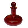 Handblown Ferenc Albert Ruby Red Glass Ship's Decanter