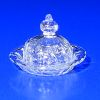 Ferenc Albert Handblown Glass Olde English Hobnail Butter Dish