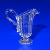 Handblown Ferenc Albert Crystal Clear Glass Ribbed Pitcher