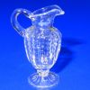 Handblown Ferenc Albert Ribbed Hobnail Clear Glass Pitcher