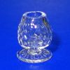 Handblown Ferenc Albert Small English Hobnail Brandy Snifter