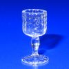 Handblown Ferenc Albert Olde English Hobnail Wine Goblet