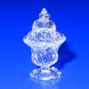 Ferenc Albert handblown Glass Diamond Thumbprint Sugar Bowl