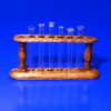 Ferenc Albert IGMA Lab Glass Crystal Test Tubes On Wood Stand