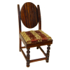 Artisan Crafted Rosewood and Velvet Dining Chair