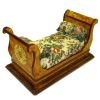 Artisan Crafted Exotic Birdseye Maple Victorian Fainting Couch