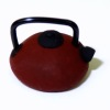 Handcrafted Small Asian Style Teapot - Dark Red