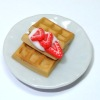 Handcrafted Waffles With Strawberries