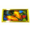 3D Lenticular Butterfly Picture in Golden Metal Frame